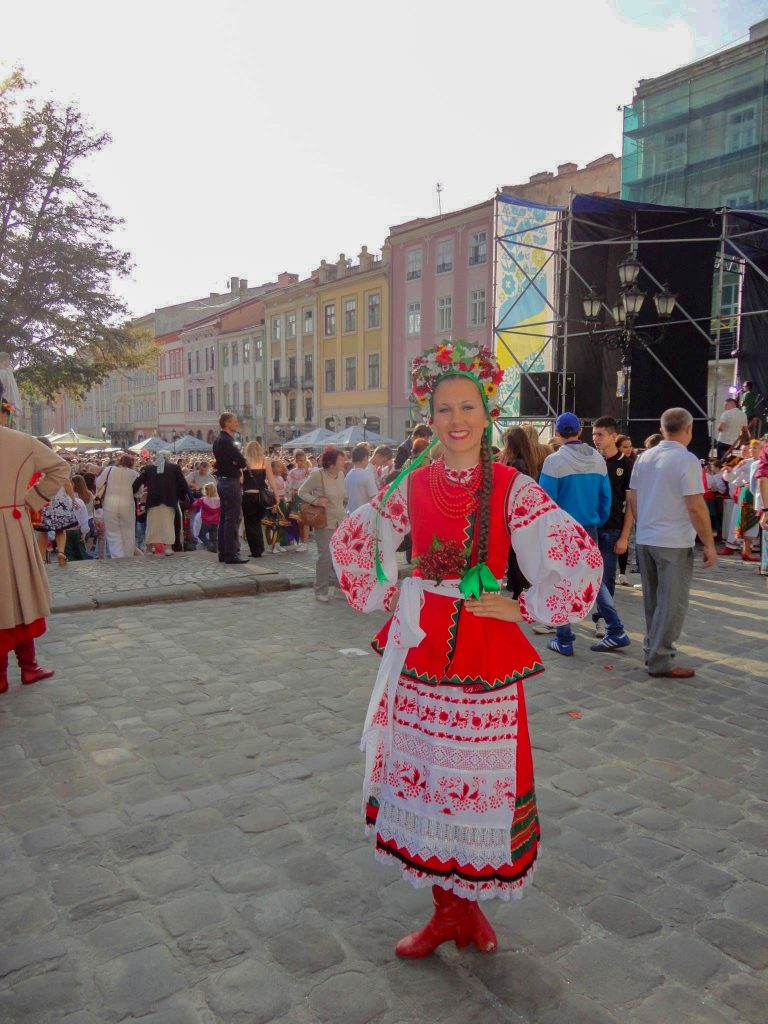 Orycia in Rynok Square on Independence Day 2013